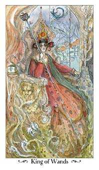 King of Staves Tarot Card - Paulina Tarot Deck