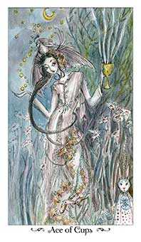 Ace of Ghosts Tarot Card - Paulina Tarot Deck