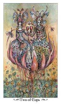 Two of Hearts Tarot Card - Paulina Tarot Deck