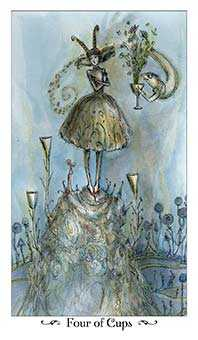 Four of Ghosts Tarot Card - Paulina Tarot Deck