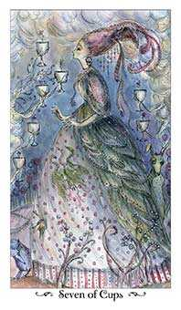 Seven of Hearts Tarot Card - Paulina Tarot Deck