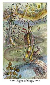 Eight of Hearts Tarot Card - Paulina Tarot Deck