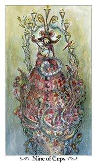 Nine of Bowls Tarot Card - Paulina Tarot Deck