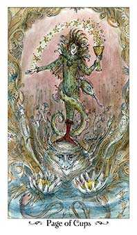 Page of Cauldrons Tarot Card - Paulina Tarot Deck