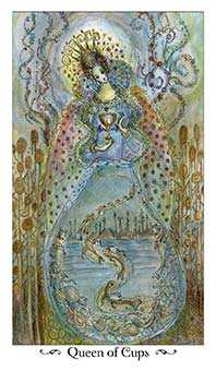Queen of Bowls Tarot Card - Paulina Tarot Deck