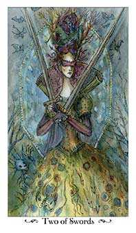 Two of Bats Tarot Card - Paulina Tarot Deck