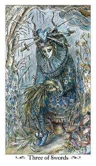 Three of Wind Tarot Card - Paulina Tarot Deck