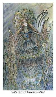 Six of Bats Tarot Card - Paulina Tarot Deck