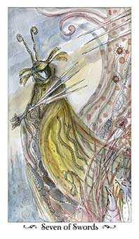 Seven of Swords Tarot Card - Paulina Tarot Deck