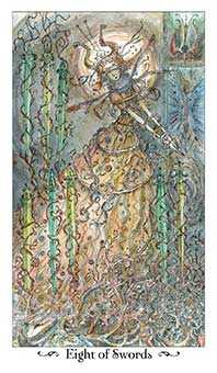 Eight of Spades Tarot Card - Paulina Tarot Deck