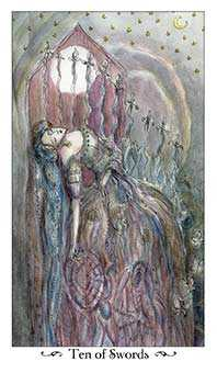 Ten of Bats Tarot Card - Paulina Tarot Deck
