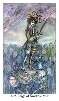 Page of Swords Tarot Card - Paulina Tarot Deck