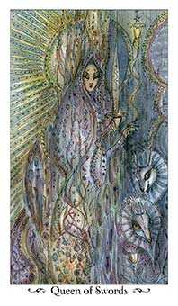 Priestess of Swords Tarot Card - Paulina Tarot Deck