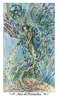 Ace of Discs Tarot Card - Paulina Tarot Deck