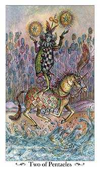 Two of Buffalo Tarot Card - Paulina Tarot Deck