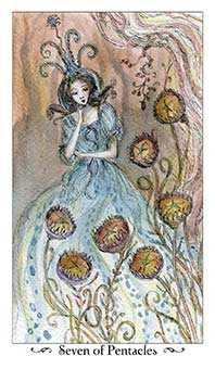 Seven of Pentacles Tarot Card - Paulina Tarot Deck