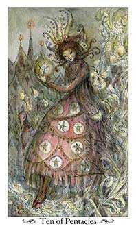 Ten of Rings Tarot Card - Paulina Tarot Deck