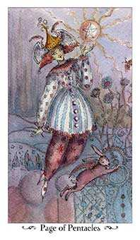 Daughter of Discs Tarot Card - Paulina Tarot Deck