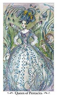 Queen of Discs Tarot Card - Paulina Tarot Deck