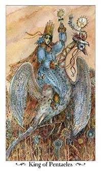 King of Coins Tarot Card - Paulina Tarot Deck