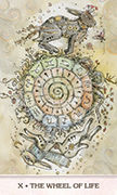 Wheel of Fortune Tarot card in Phantasma deck