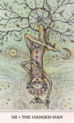 The Hanged Man Tarot card in Phantasma deck