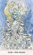 The Moon Tarot card in Phantasma deck