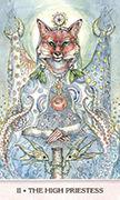The High Priestess Tarot card in Phantasma deck
