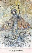Ace of Wands Tarot card in Phantasma deck