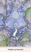 Three of Wands Tarot card in Phantasma deck