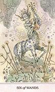 Six of Wands Tarot card in Phantasma deck