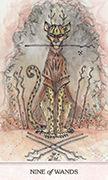 Nine of Wands Tarot card in Phantasma deck