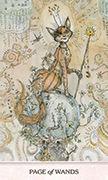 Page of Wands Tarot card in Phantasma deck