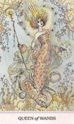Queen of Wands Tarot card in Phantasma deck