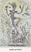 Page of Cups Tarot card in Phantasma deck