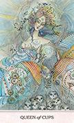 Queen of Cups Tarot card in Phantasma deck