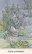 Four of Swords Tarot card in Phantasma deck