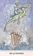 Six of Swords Tarot card in Phantasma deck
