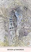 Seven of Swords Tarot card in Phantasma deck