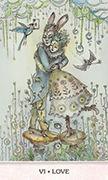 The Lovers Tarot card in Phantasma deck