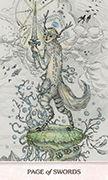 Page of Swords Tarot card in Phantasma deck
