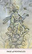 Page of Pentacles Tarot card in Phantasma deck