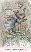 Knight of Pentacles Tarot card in Phantasma deck