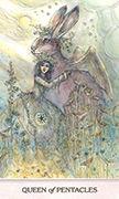 Queen of Pentacles Tarot card in Phantasma deck