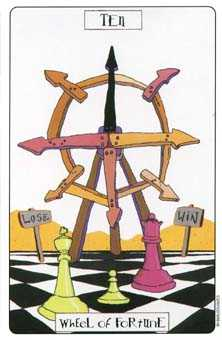 The Wheel of Fortune Tarot Card - Phantasmagoric Tarot Deck