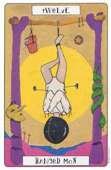 The Hanged Man Tarot Card - Phantasmagoric Tarot Deck