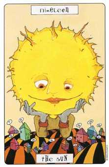 The Sun Tarot Card - Phantasmagoric Tarot Deck