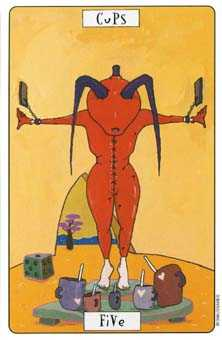 Five of Cups Tarot Card - Phantasmagoric Tarot Deck