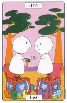 Ten of Hearts Tarot Card - Phantasmagoric Tarot Deck