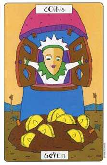 Seven of Pumpkins Tarot Card - Phantasmagoric Tarot Deck